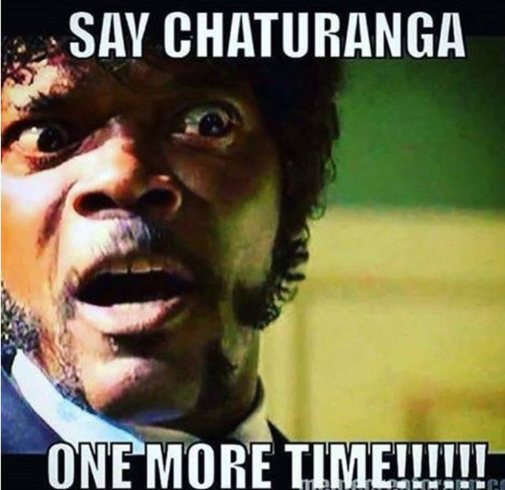 Say chaturanga ONE MORE TIME!