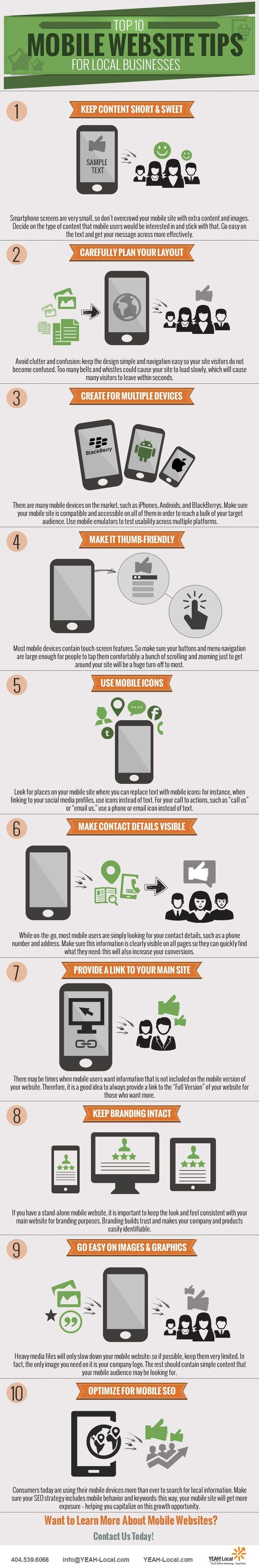 The Top 10 Mobile Friendly Website Tips for Local Businesses [Infographic]