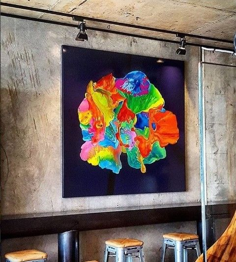 Gary Winfield. In Gerard's Bar. Hung by Anthony's Art Hanging