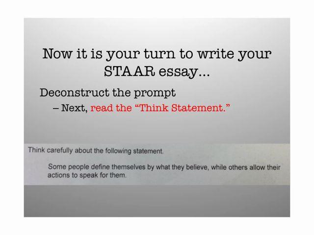 Persuasive essay staar