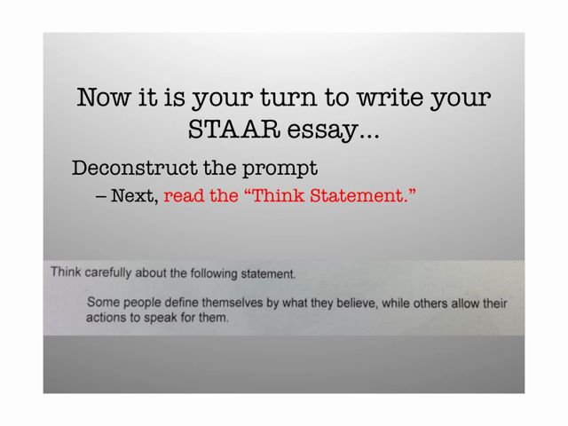 What can i write my persuasive essay on staar test