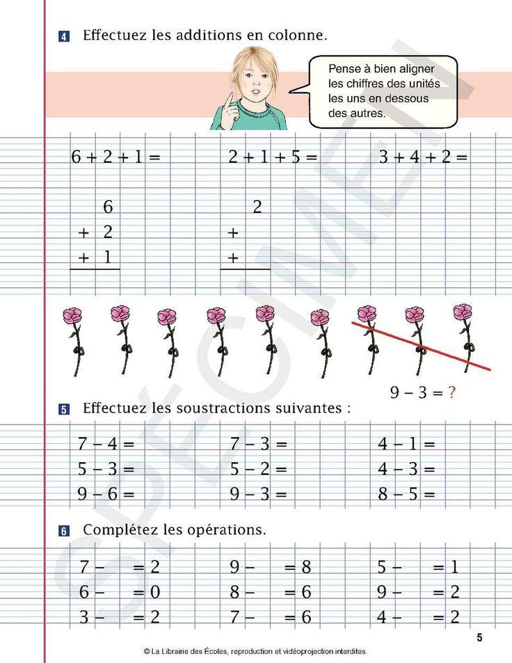 Les Petits Devoirs Operations CE1 | Ce1, Enseignement, Soustraction