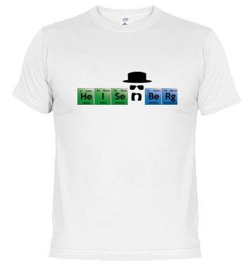 Heisenberg de Breaking Bad representado con símbolos químicos de la tabla periódica. #breakingbad #heisenberg #series #tv #t-shirts
