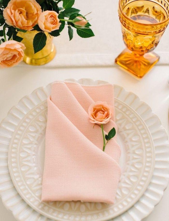 Pliage Serviette Bouton De Rose Idees