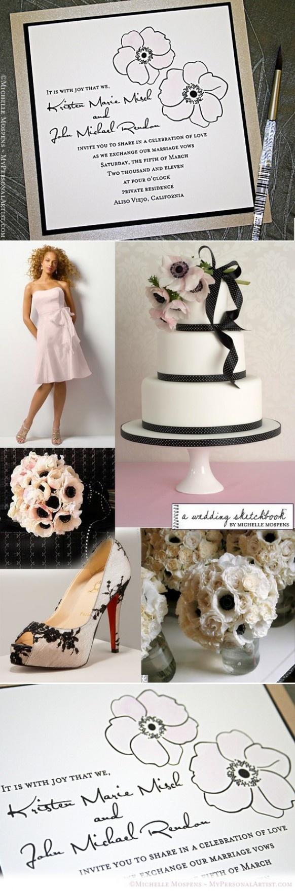 Blush palettes de couleurs de mariage