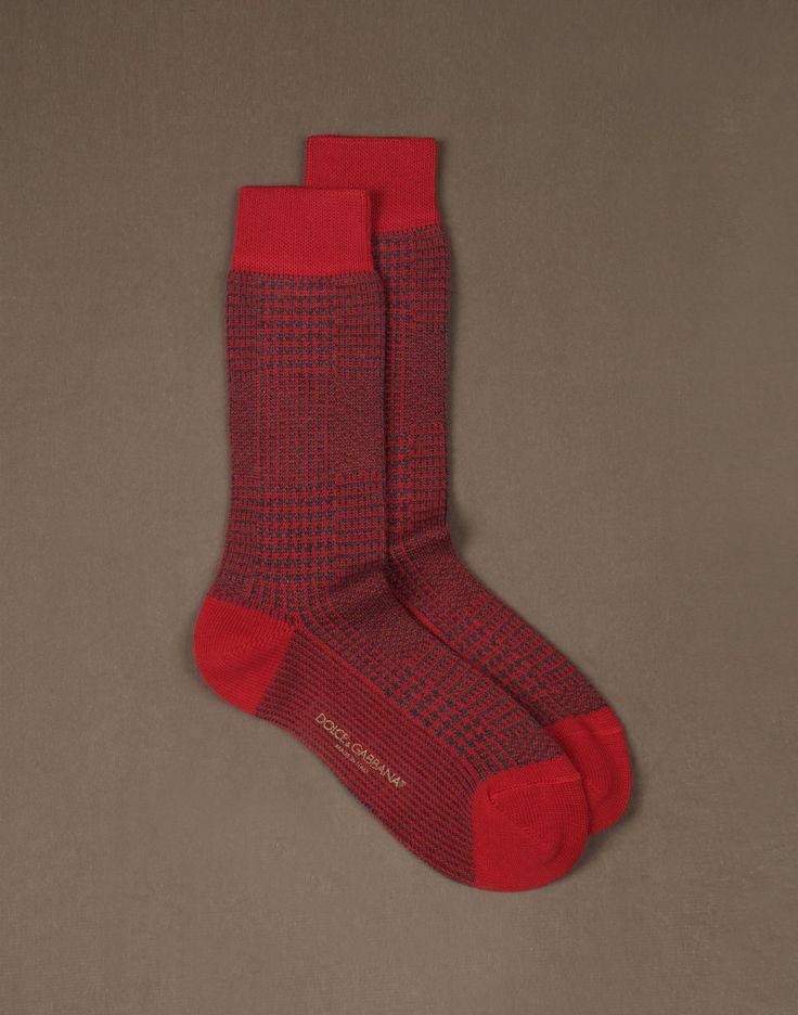 Dolce&Gabbana, Prince of Wales Print Socks