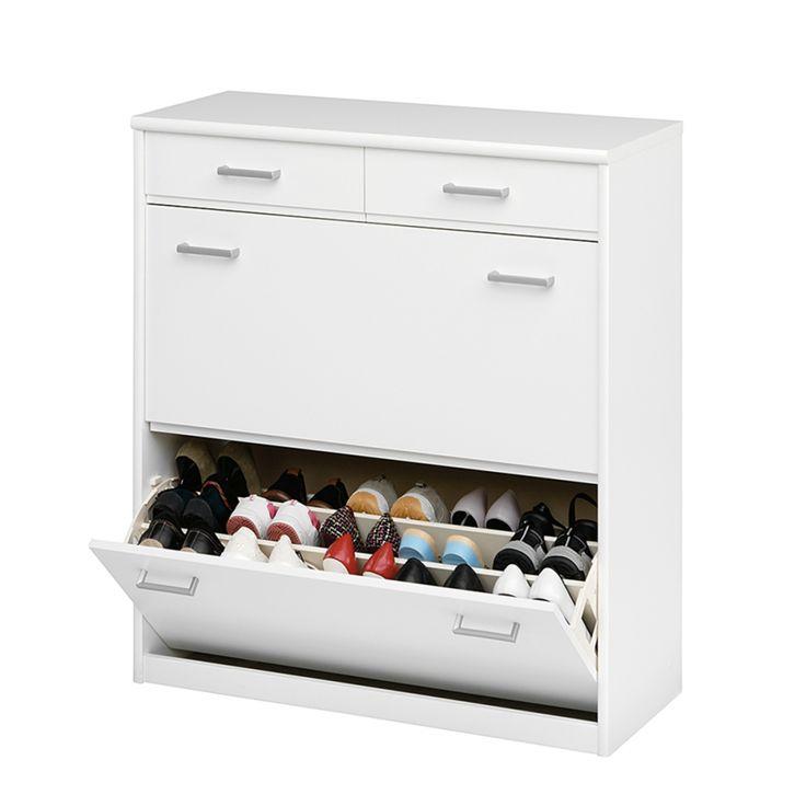 Schuhschrank Soft Plus II - Weiß, bis 30 Paare