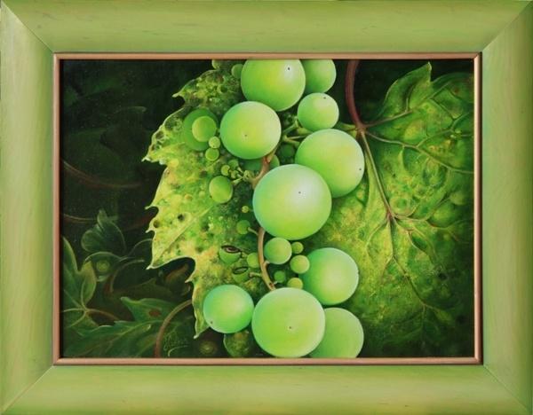 "OIL PAINTING -  ""The Grapes"" on Behance by Anna Ewa Miarczynska"