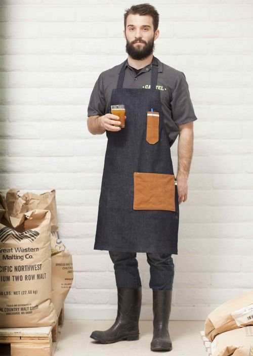 The California Common Beer Maker apron is one of our most popular. Our Beer Maker aprons come in larger sizes - for those who make ... and drink ... beer.