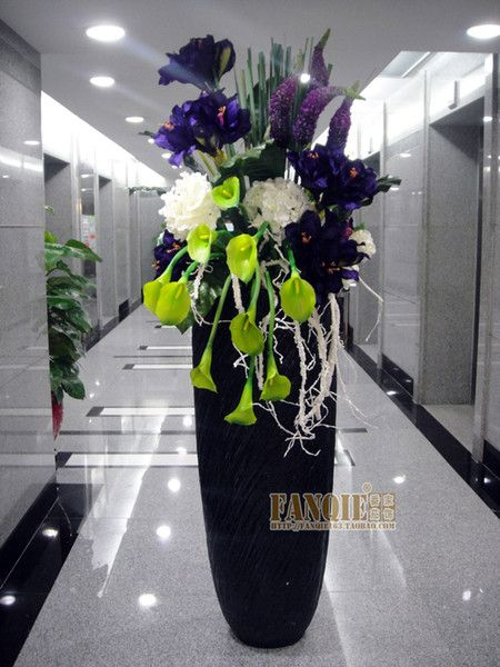 Pinterest & Modern Fashion Decoration Floor Vase Set Flowers Artificial ...