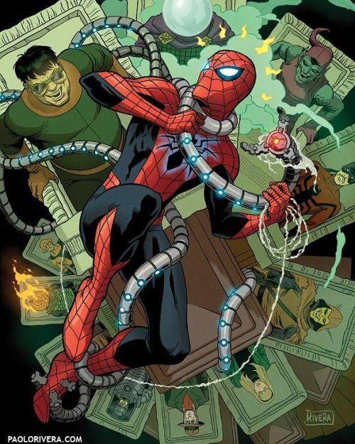 The Amazing Foes of Spider-Man - Paolo Rivera, Inks: Joe Rivera