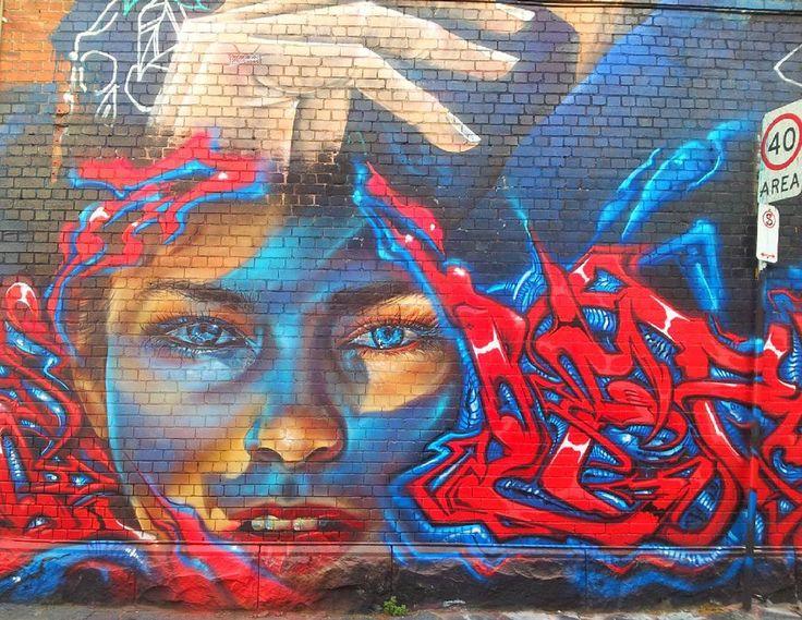 Some more amazing Melbourne street art! #melbourne #melbourneiloveyou #instamelbourne #fitzroy #graffiti #streetart