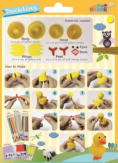 Duck - made from Kokoru Ichi - colour corrugated stripes