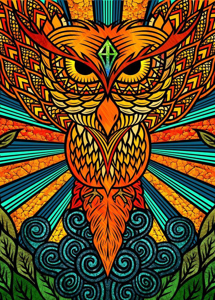 The last illustration for my personal project - Revenge (Night Owl) \m/  https://www.behance.net/gallery/16800511/Revenge