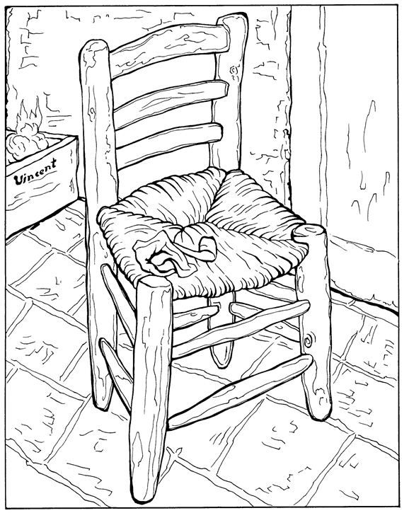 Vincent Van Gogh Coloring Page Kids N Fun