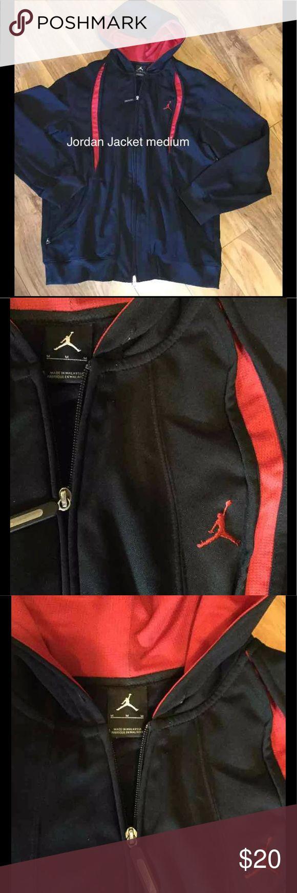 Jordan Jacket men's medium Jordan Jacket, red and black, no hood string, no fade,medium Jordan Jackets & Coats
