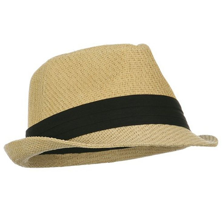 Private Island Party  - Tan Cuban Tweed Fedora Hat  with Black Band Buy in Bulk and Save for your Next Party! These awesome Cuban Style Tweed Fedora Hats are the perfect accessory for nearly any occasion.