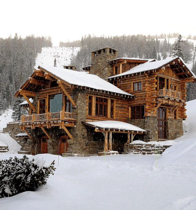 ski cabin beautiful winter pinterest