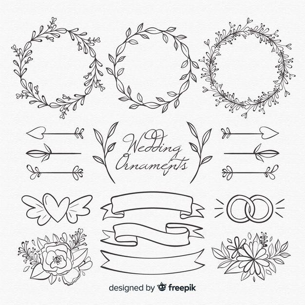 Floral Wedding Logo Collection