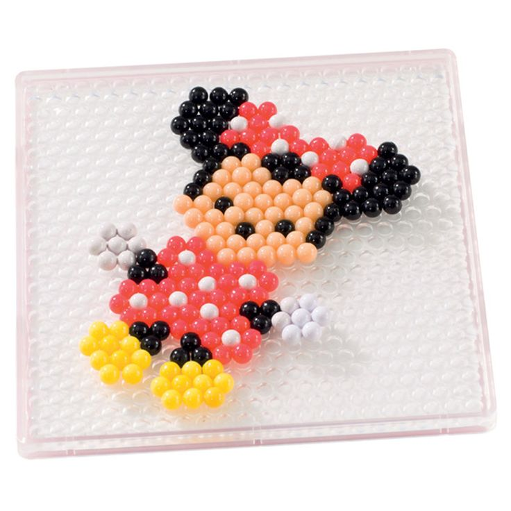 Minnie Mouse Aqua Beads Pinterest Perler Beads