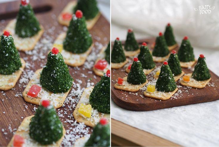 Сырные елочки к праздничному столу (готовлю с помощью блендера Philips) - HAPPYFOOD