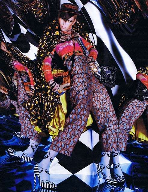 Eccentric Rainbow Photoshoots - The Hip Pop Editorial for W Magazine is Daring and Bold (GALLERY)