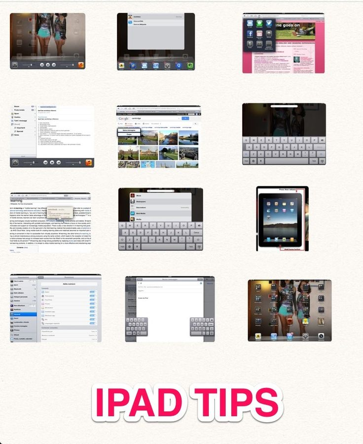 TOUCH this image: Ipad tips by daniela