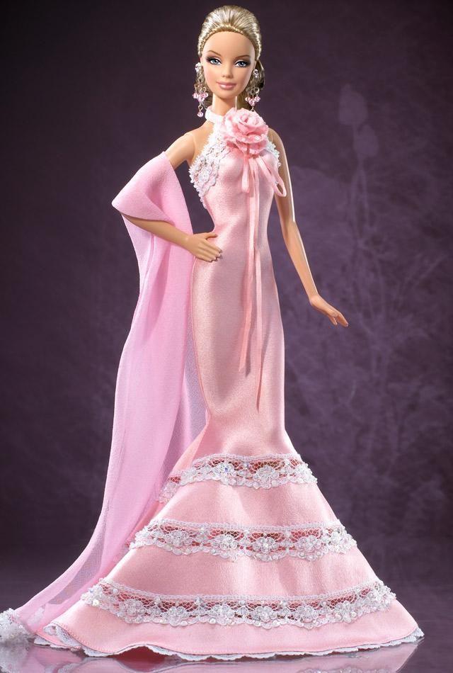 *Badgley Mischka Barbie. Gold Label. Release date: 8/15/2006. PC:J9180.