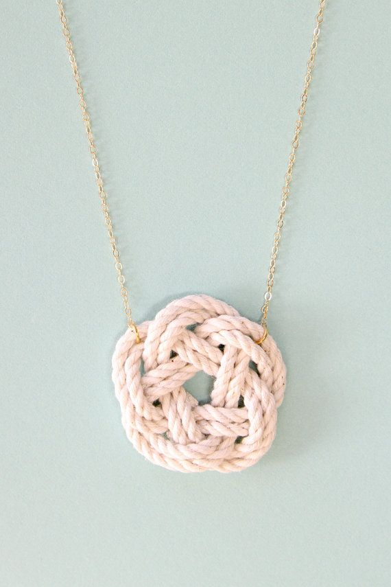 Nautical jewelry sailor knot necklace nautical by SeaAndCake