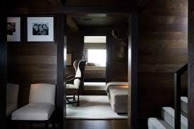 Atmospheric winter cabin by Christian & Hennie's. #interiors #interiordesign #ambience #dark