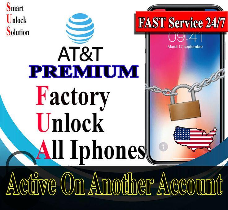 Att premium factory unlock service all iphone active on