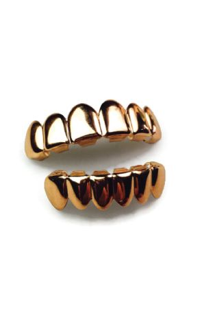 The 'Roses of War' Rose Gold Grills Set by Refinement Co. by Refinement Clothing Co.