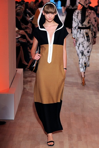Tobacco, Black, accent White. Hermes Spring 2012
