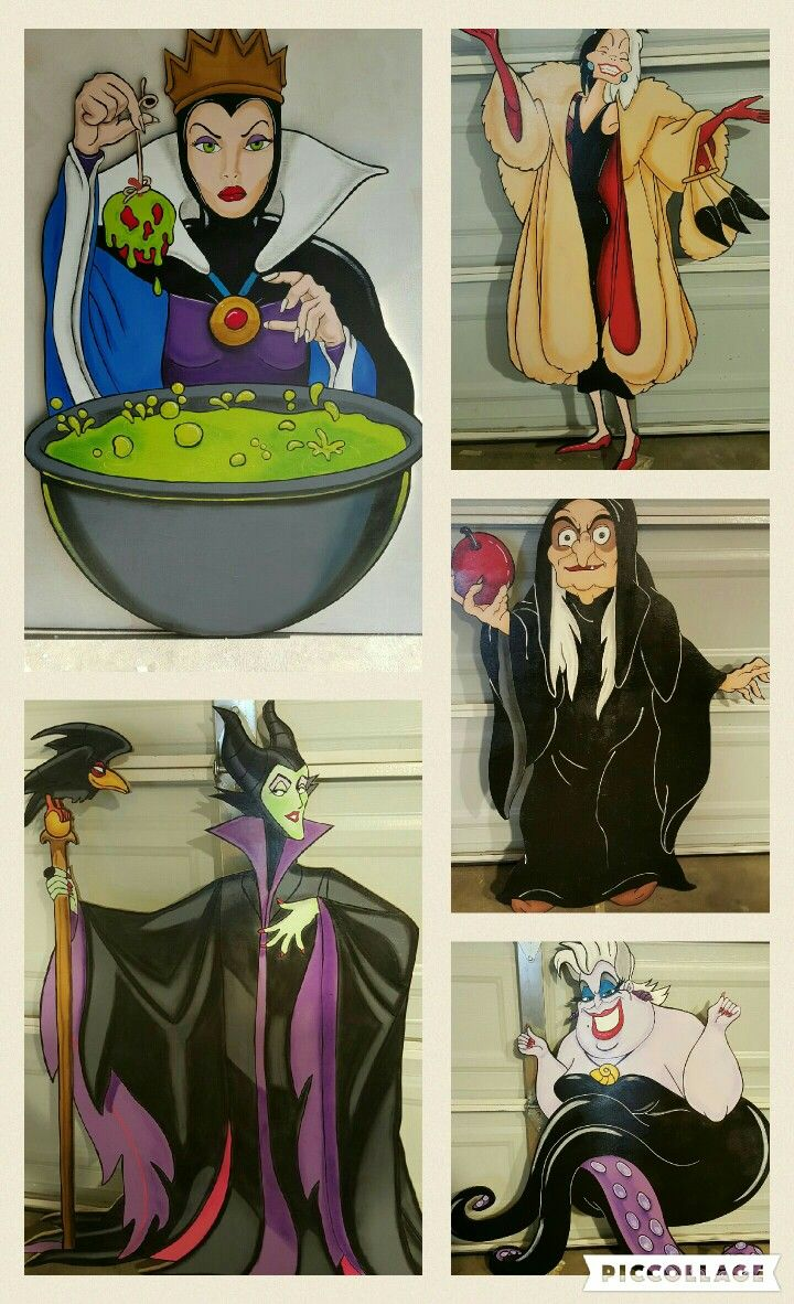Wooden halloween yard decorations - Disney Villains Lawn Signs Disney Halloweenhalloween 2017halloween Ideaspainted Wood