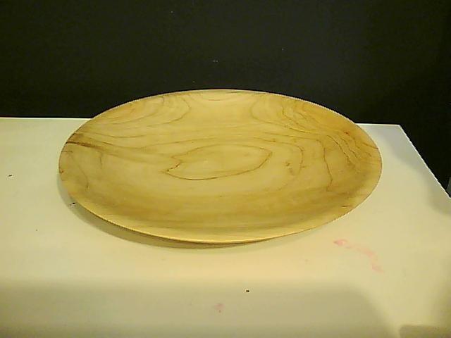 Large flat platter.  Hand turned.