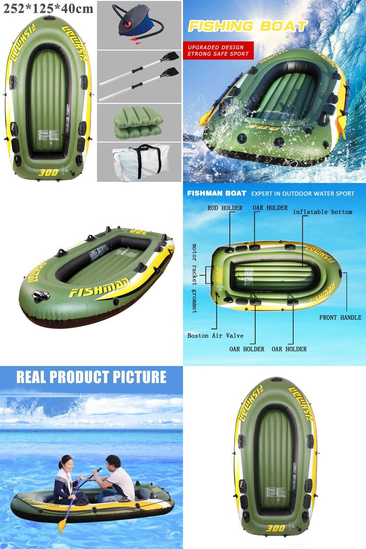 [Visit to Buy] 3 person 252*125*40cm pvc inflatable boat fishing raft boat PVC kayak rowing boat paddle oar pump seat cushion bag rubber dinghy #Advertisement