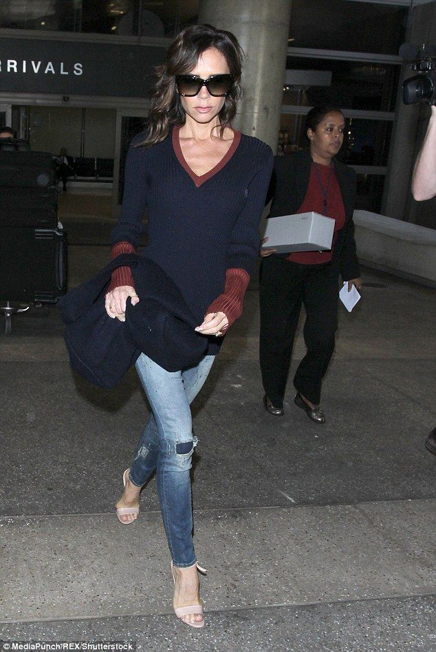 Taking it all in her stride: Victoria seemed to be unfazed by the media attention...