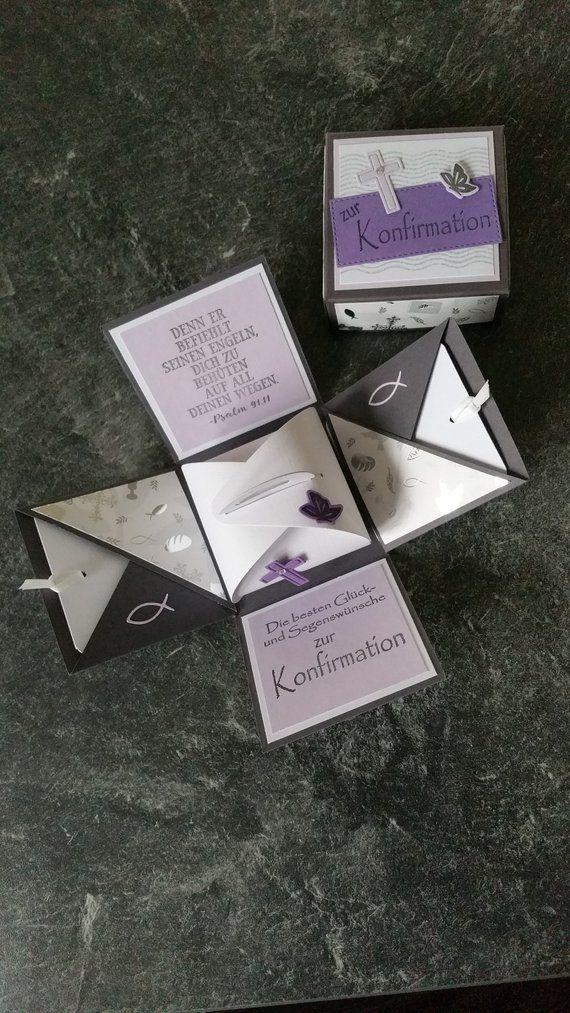 Explosionsbox Konfirmation Geldgeschenk Geschenke Zur Konfirmation Einladung Konfirmation Und Geschenke Zur Firmung