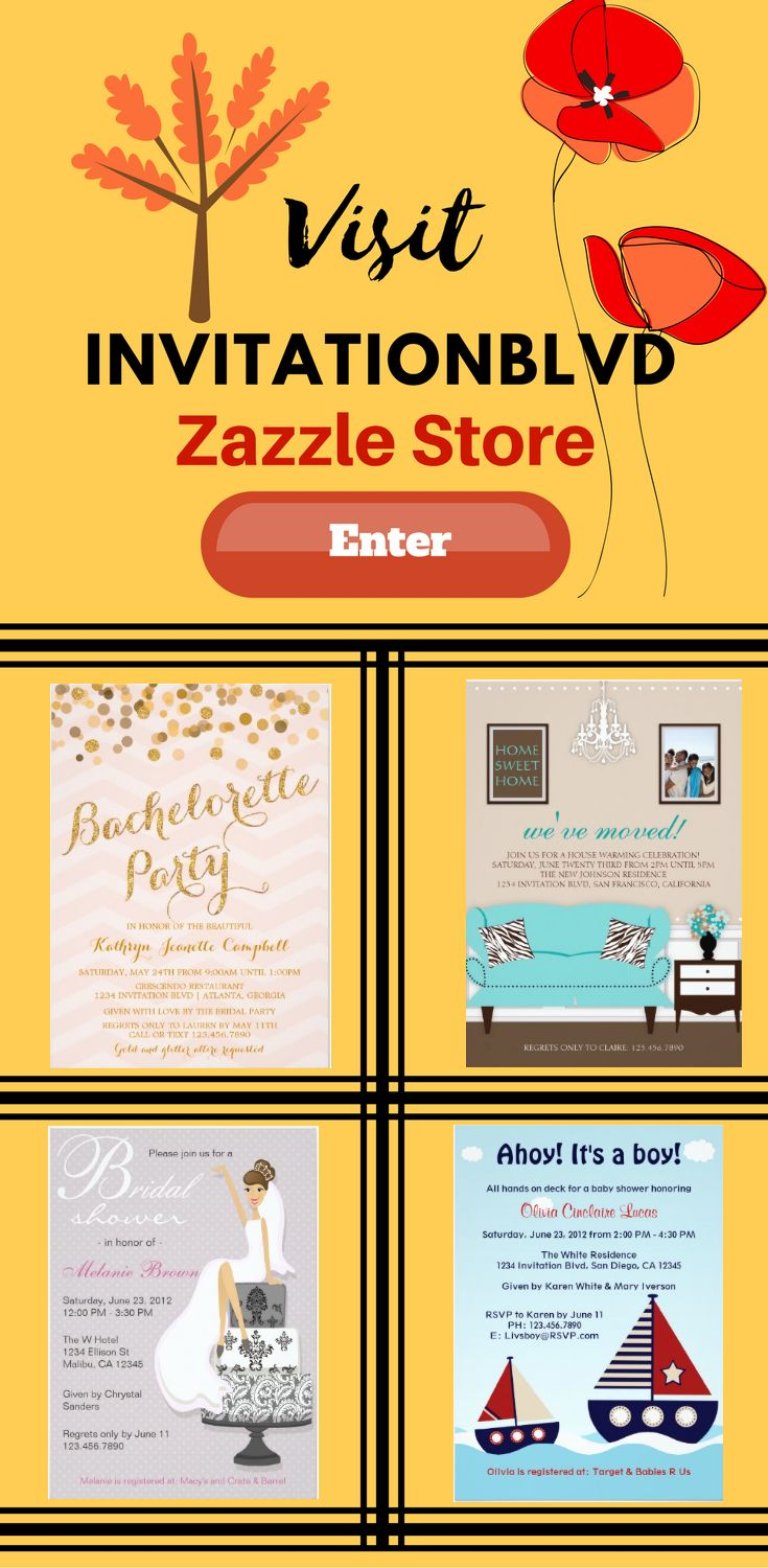 Visit invitationblvd Zazzle Store and look at many different unique and trendy invitation.