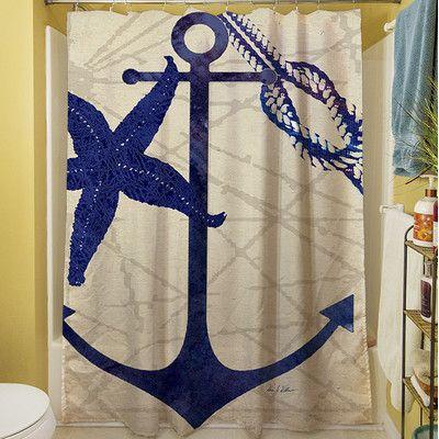 Thumbprintz Anchor Shower Curtain & Reviews | Wayfair