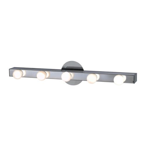 D.I.Y: Vanity Mirror.. MUSIK  Wall lamp, chrome plated  $14.99