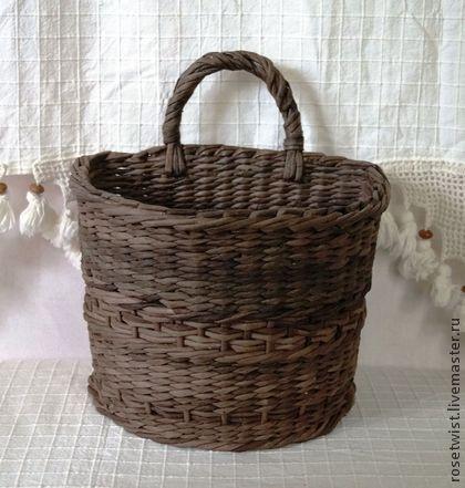 Корзина плетеная - коричневый,палисандр,кухня,уютная кухня,порядок,экостиль