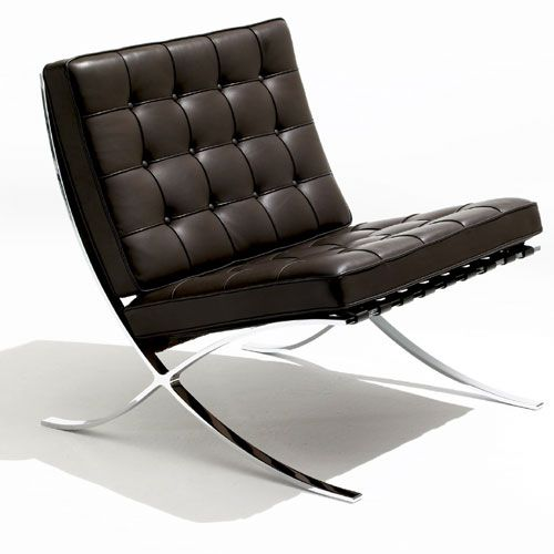 Barcelona Chair by Ludwig Mies van der Rohe: Knoll Barcelona, Modern Chairs, Vans Of, Der Rohe, My Ludwig, Mie Vans, Interiors Design, Living Room, Barcelona Chairs