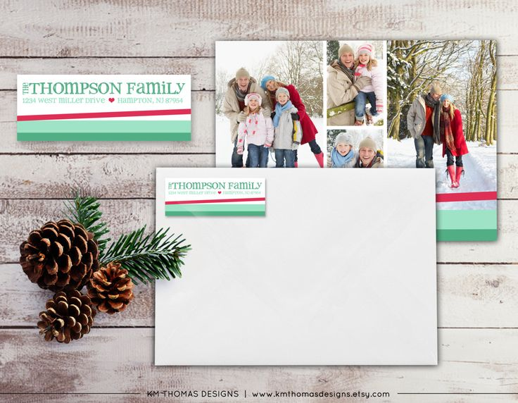 Personalized Return Address Label: Holiday Return Address Label - Sticker - Rectangular Label - Printable Pink Address Label - #WH102 by KMThomasDesigns on Etsy