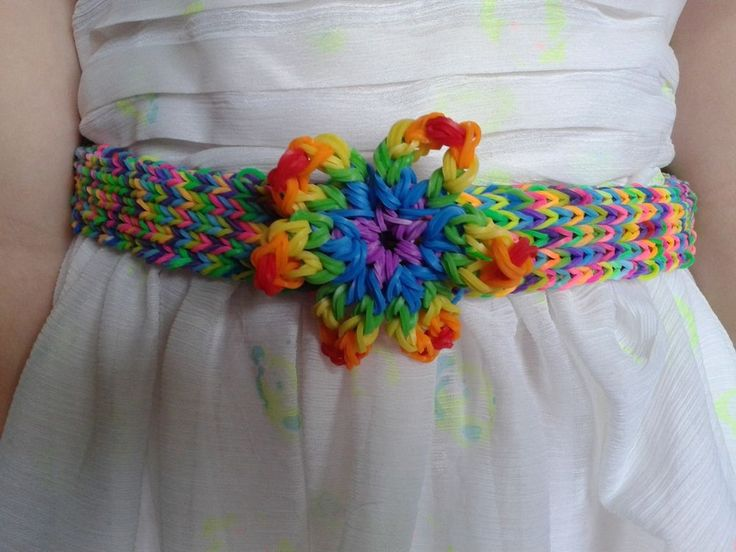 LOOM BAND DRESS BELT (for charity, National Autistic Society )