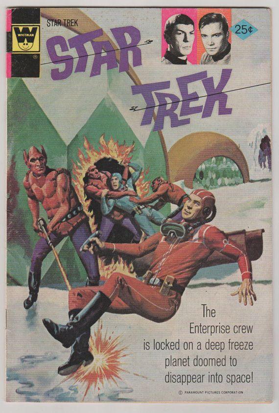 Star Trek V1 27.  VF. 1974.  Gold Key Whitman by RubbersuitStudios #startrek #comicbooks