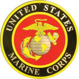 "Marines 12"" Metal Round Sign"