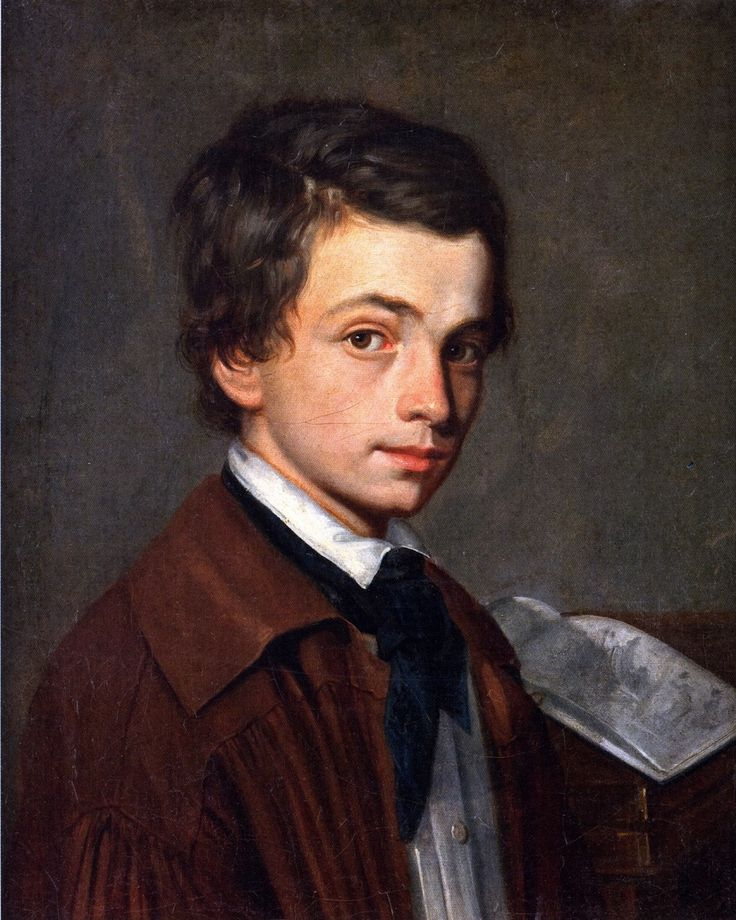 Alexandre CABANEL (1823-1889) French artist   ::  self-portrait as a child - 1836