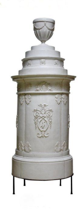 18th Century Baroque Tiled Stove. An Austiran baroque tiled stove, a traditionell exemplar from a well-established porcelain and pottery Company.
