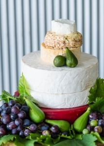 Cheese Wedding Cake captured by Millgrove Photography at Yarra Ranges Estate. Winery Wedding | Yarra Valley Wedding | Dandenong Ranges Wedding